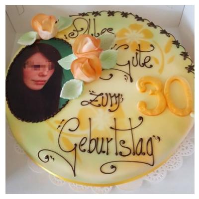 Geburtstag mädel essbares Foto