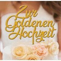 Goldene Hochzeit Tortenstecker Gold- 3mm
